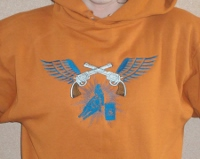 Hoody; Pistols, Barrel Racer and Wings