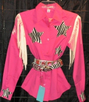 Zebra Stars Rodeo Shirts