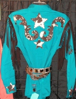 Cowhide Appliqued Rodeo Shirt