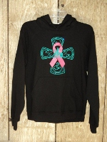 Hoody; Breast Cancer Barrel Racer Cross