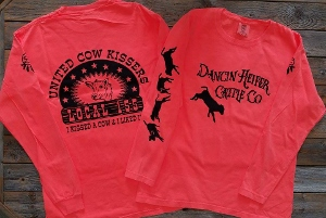 Dancin Heifer Cattle Co; Cow Kissers Tshirt