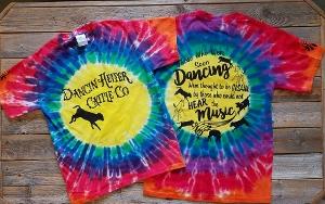 Dancin Heifer Cattle Co Tie Dye T