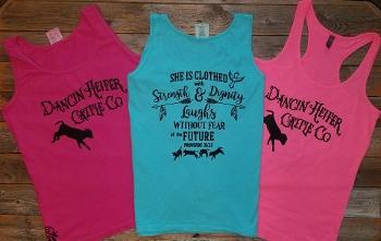Dancin Heifer Cattle Co; She is Clothed T/tank