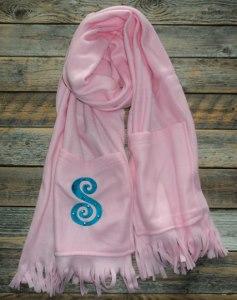 Scarf; Fleece Scarf with Pockets
