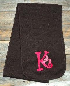 Scarf; heathered knit