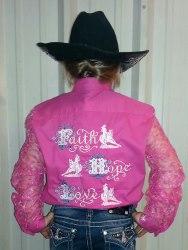 Rodeo Shirt  Faith Hope Love Barrel Racer