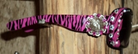 SUNGLASSES; Fuschia Zebra, Bling Barrel Racer