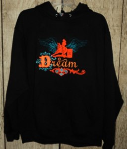 Hoody with Believe Barrel Racer Design