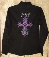 Faith Diamond Cross Rodeo Shirt