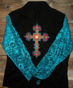 Rodeo Shirt; Starburst Cross