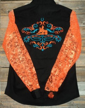 Rodeo Shirt; Barrel Racer Spurs and Swirls