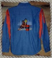 Detailed Barrel Racer Rodeo Shirt