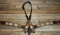 Breastcollar/Headstall set; Copper Crosses