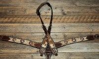 Breastcollar/Headstall set; Copper Crosses