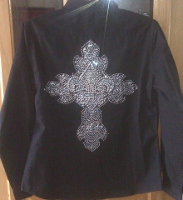 Fleur Des Lis Cross Rodeo Shirt