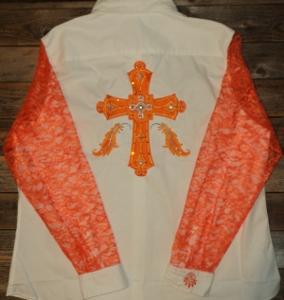 Rodeo Shirt Feather Cross