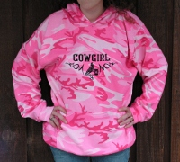 Hoody; Cowgirl Barrel Racer