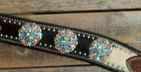 Breastcollar/Headstall Set; Aqua & AB