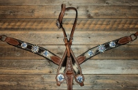 Breastcollar/Headstall Set; Big Silver Rowels