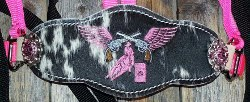 Bronc Halter; pink pistols