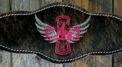 Bronc Halter; Pink Barrel Racer Cross