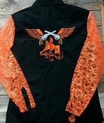 Rodeo Shirt; Barrel Racer Pistol Wings