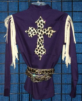 Rodeo Shirt; Cheetah Cross