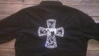 Rodeo Shirt; Praying Cowgirl Cross