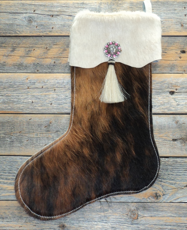 Western Christmas Stockings Personalized.Western Hair On Hide Christmas Stocking Personalize