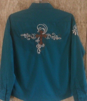Cross and Swirls Rodeo Shirt