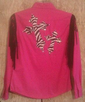 Rodeo Shirt; Zebra Cross